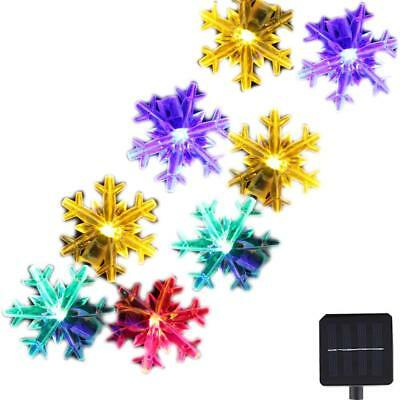 Inngree Snowflake Solar String Light 20 ft 30 LED Waterproof Solar Power String