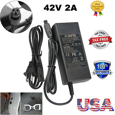UL Certified 42V 2A AC DC Battery Charger Adapter For 2 Wheel Hoverboard Scooter