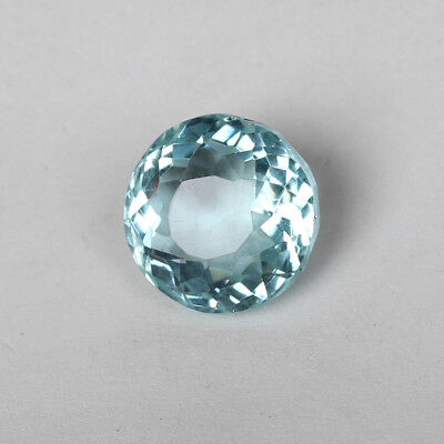 23.00 Ct Natural Aquamarine Greenish Blue Color Round Cut Loose Certified Gem