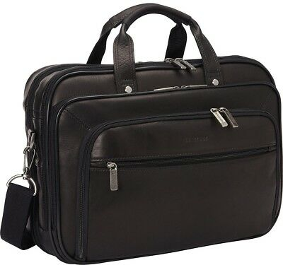 a4c9eb84b5e6 Heritage Colombian Leather 15.6 in. Double Compartment Top Zip Checkpoint