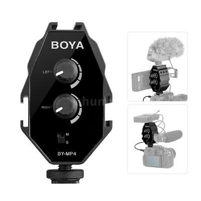 BOYA BY-MP4 Audio Adapter Stereo W/ 3.5mm TRRS/TRS Cable For DSLR Iphone Q2D4