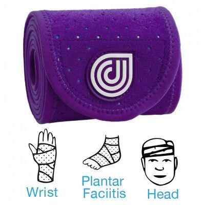 """Dr. Cool 3X25"""" Sport Ice + Compression Wrap Purple """"wet Or Freeze"""" Ankle Wrist"""