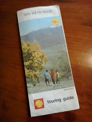 Vintage Shell touring guide collectible NSW road map 1958 Jindabyne photo