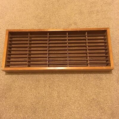 NAPA VALLEY Vintage Wooden Cassette Tape Wall Mountable Storage Unit 50 Capacity