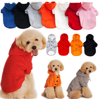 Pet Dog Puppy Cat Hoodie Winter Warm Clothes Sweater Jacket Coat Costume Apparel