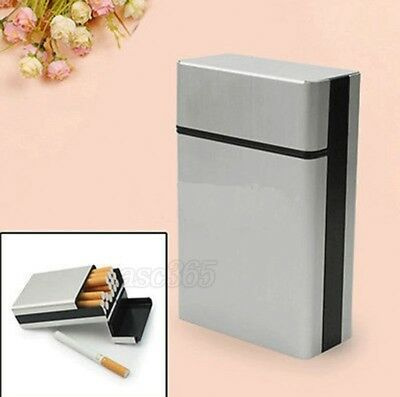 Aluminum Cigarette-Tobacco Cigar Case Holder Pocket Box Container Useful #NP5