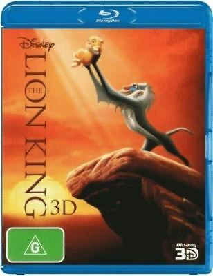 Disney The Lion King 3D 1-Disc Bluray Region Free ABC New