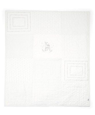 Mamas and Papas White PATCHWORK Deer Unisex Cot / Cot bed Coverlet