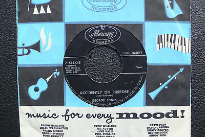 "7"" George Jones - Accidently On Purpose/ Sparkling Brown Eyes - US Mercury"