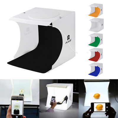 Portable Photo Studio Lighting Mini Box Photography Backdrop LED Light Room Tent