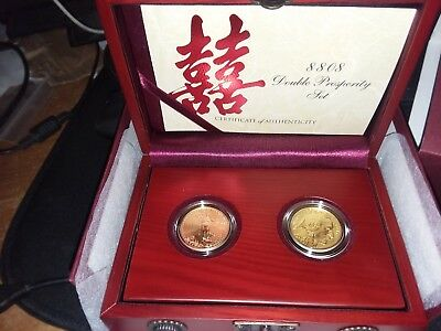 2008w Double Prosperity set $25 Gold Buffalo and Gold Eagle w/box and coa