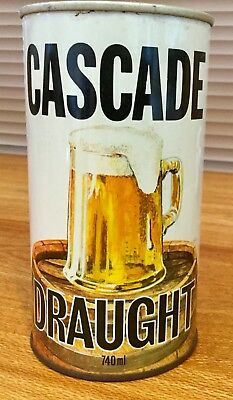Cascade Draught . 740ml. Steel Beer Can.
