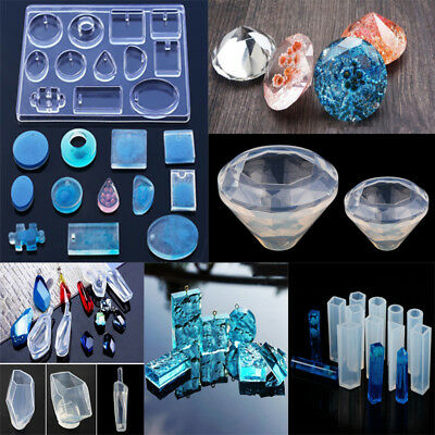 Clear Silicone Mold Jewelry Pendant Making Tool Resin Craft Moulds Decor Tools