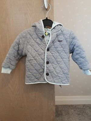 boys Ted Baker quilted jacket grey age 9-12 months
