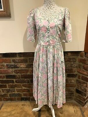 Laura Ashley Lovely Ladies Vintage Dress Size 14 Excellent Condition