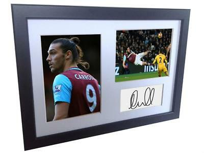 Signed Andy Carroll West Ham Autographed Photo Photograph Picture Frame Print A4