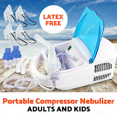 Heavy duty Portable Nebulizer Powerful Asthma Machine Compressor Adults & Kids