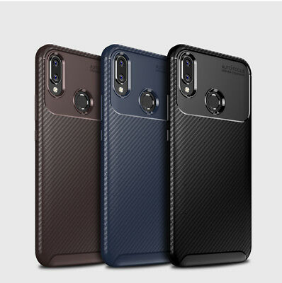 Hybrid Shockproof Carbon Fiber Protect Case Ultra-thin Silicone Cover For Huawei