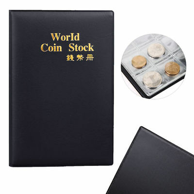 Small Black Coin Collectors Wallet Pocket Album Value Holds 120 Coins 50p £1