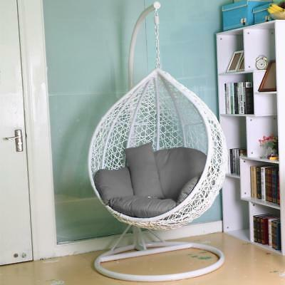 Rattan Swing Patio Garden Weave Hanging Egg Chair w/Cushion& Cover In orOutdoor