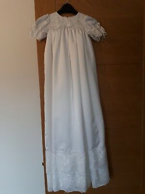 NEW babies christening gown white long unisex
