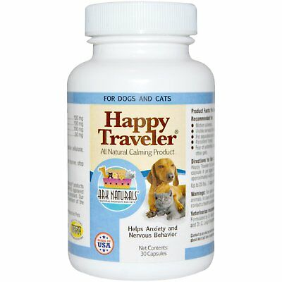 Happy Traveler, All Natural Calming Product, For Dogs & Cats, 30 Capsules