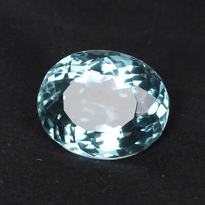22.70 Ct. Natural Aquamarine Greenish Blue Color Oval Cut Loose Certified Gem