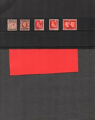 Morocco Agencies;KG-KGV1;Spanish Currency;5 stamps; mint/unmounted/used;