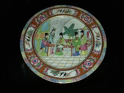 Vintage Chinese Handpainted  Plate Signed