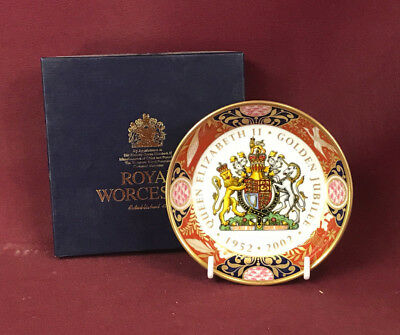 Royal Worcester Queen Elizabeth Ii Golden Jubilee Coaster - New/boxed