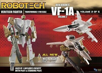 Robotech Ben Dixon VF-1A Transformable Veritech Fighter Action Figure