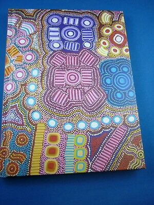"Aboriginal Lined Blank Book "" Wallaby Tracks ""  by Pacinta Turner Nakamarra"