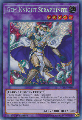 1x Gem-Knight Seraphinite - SHVA-EN048 - Secret Rare - 1st Edition - Near Mint