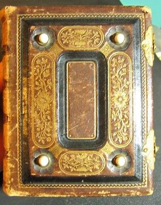 The American Photograph Album - Leather, Carved Gold Pages, 42 Photos W/Names