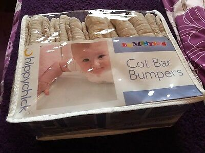 Hippychick Cot Bar Bumpers These Cost £29.99 New  So Grab A Bargain!
