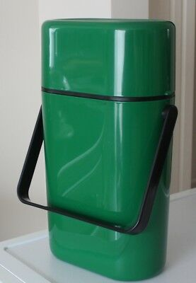 Vintage Retro GREEN DECOR 2 bottle Wine Cooler with freezer bottle chiller VGC