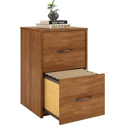 2 Drawer Wooden File Cabinet Storage Ameriwood Home Office Furniture Bank Alder