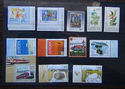 Lithuania 1992 Plants 1993 1997 2005 Europa  2009 Trains 2012 Lighthouse MNH