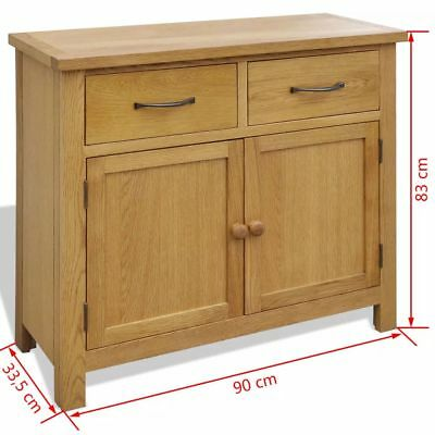 Rustic Clean Oak Sideboard 2 cabinets 2 Drawers Ample Storage Space For Hallways