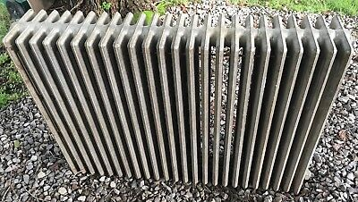 Large Vintage Cast Iron Hot Water/Steam Radiator-ARCO-24 Fin-42x32x8