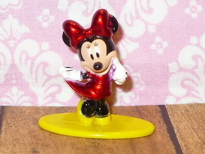 """Disney Die-Cast Metal MINNIE MOUSE Mini Figure 1.5"""" tall Collectible Figurine"""