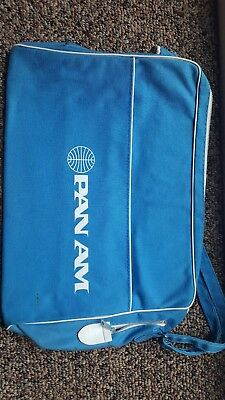 Vintage 1960s PAN AM AIrlines Travel Bag with Strap