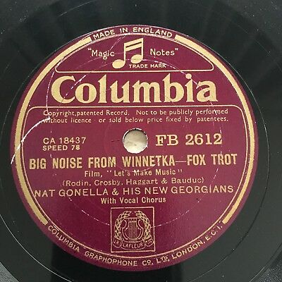 78rpm Nat Gonella - Big Noise From Winnetka / Bad Humour Man Columbia FB2612