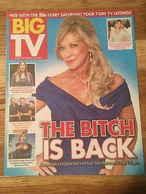 UK BIG TV Magazine Oct 2018: CLAIRE KING Emmerdale Jodie Whittaker Simon Reeve