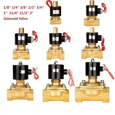 Brass Electric Solenoid Valve Air Water Oil Normally Open 12V 24V 220V BSP