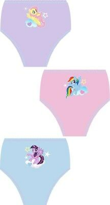 Girls 100% cotton my little pony 3 pack briefs knickers