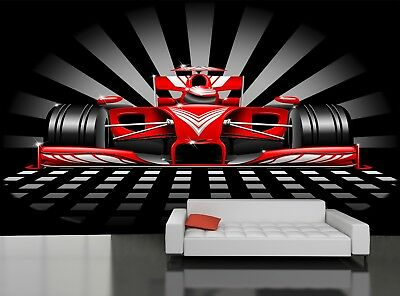 Red Race Car  Photo Wallpaper GIANT DECOR Paper Poster Free Paste