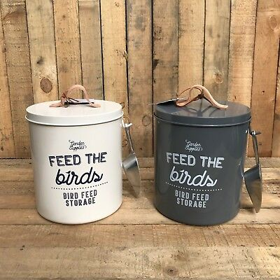 Burgon & Ball Feed The Birds Seed Food Storage Tin - With Metal Scoop