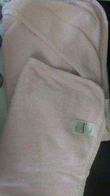 baby girls pink hooded towels