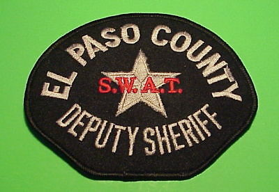 El Paso County  Colorado  S.w.a.t.  Sheriff /  Police Patch   Free Shipping!!!
